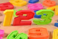Números coloridos 123 do plástico Fotografia de Stock Royalty Free