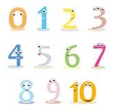 Números coloridos dos desenhos animados Fotografia de Stock
