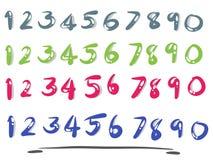 Números com projeto simples Fotografia de Stock Royalty Free