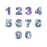 Números com suficiência abstrata ilustração stock
