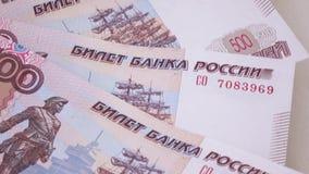 Números consecutivos en rublos almacen de metraje de vídeo