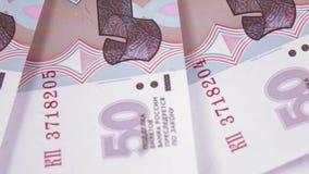Números consecutivos en rublos metrajes