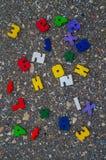 Números, cuaderno, plumas Fotografía de archivo