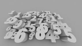 Números 3D abstratos Fotos de Stock