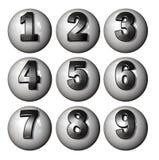 Números da bola do ícone imagens de stock royalty free