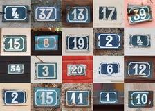 Números da casa Imagem de Stock