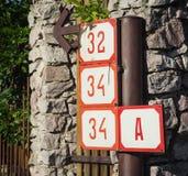 Números da casa Fotos de Stock Royalty Free