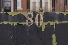 80 números da casa fotografia de stock royalty free