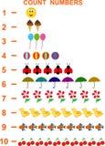 Números da contagem ilustração royalty free