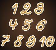 Números da corda, elementos do projeto detalhado Ilustração Royalty Free