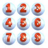 Números da esfera do ícone Imagem de Stock