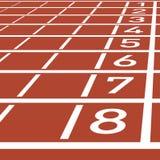 Números da pista da trilha ilustração stock