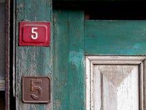 Números da porta Fotografia de Stock Royalty Free
