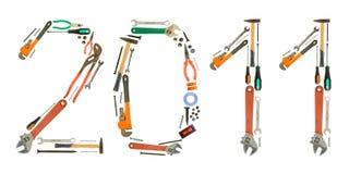 Números das ferramentas Imagem de Stock Royalty Free