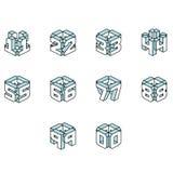 Números de bloco ilustração do vetor