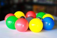 Números de bulbo eléctrico en diverso color foto de archivo