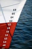 Números de calibrador de la profundidad de las naves Fotos de archivo libres de regalías