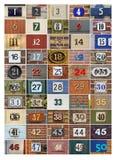 Números de casa Imagens de Stock