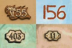 Números de casa en La Habana vieja #1 Foto de archivo libre de regalías