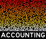 Números de contabilidad ilustración del vector