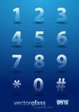 Números de cristal Fotografía de archivo libre de regalías