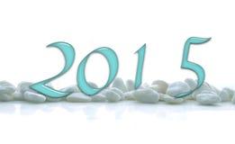 2015, números de cristal Fotos de archivo libres de regalías