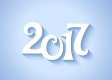 números de data 2017 do ano novo da caligrafia Imagem de Stock Royalty Free