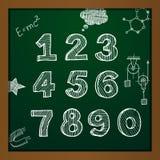 Números de dibujo de tiza del vector Imagen de archivo