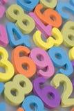 Números de espuma Imagen de archivo