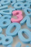 Números de espuma Fotografía de archivo
