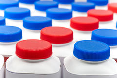 Números de frascos de leite Imagem de Stock Royalty Free