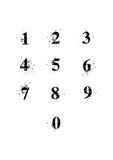 Números de fuente de la mancha blanca /negra fijados Foto de archivo libre de regalías