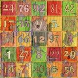 Números de Grunge imagens de stock