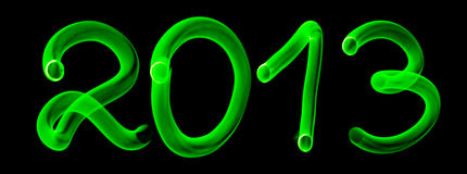 Números de incandescência 2013 Imagens de Stock Royalty Free