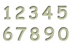 Números de la arena aislados en un blanco   Imágenes de archivo libres de regalías