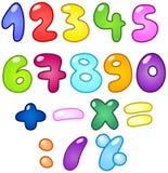 Números de la burbuja Foto de archivo libre de regalías