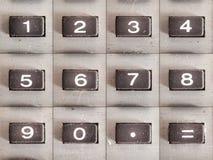Números de la calculadora Imagenes de archivo
