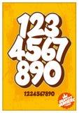 Números de la calle de la pintada en fondo oxidado ilustración del vector
