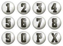 Números de la cuenta de balompié ilustración del vector