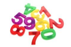 Números de la educación en blanco Imagen de archivo libre de regalías