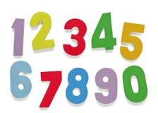 Números de la espuma Fotos de archivo libres de regalías