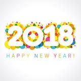 2018 números de la Feliz Año Nuevo libre illustration