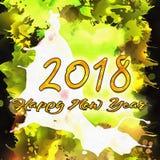 Números de la Feliz Año Nuevo 2018 de años Foto de archivo