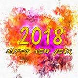 Números de la Feliz Año Nuevo 2018 de años Fotografía de archivo