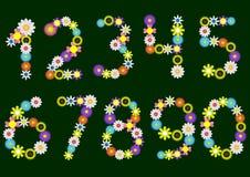 Números de la flor Imágenes de archivo libres de regalías