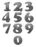 Números de la huella dactilar Foto de archivo libre de regalías