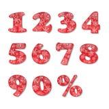 Números de la Navidad fijados ilustración del vector