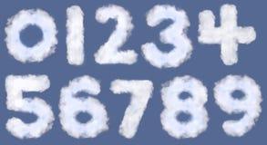 Números de la nube Fotos de archivo libres de regalías
