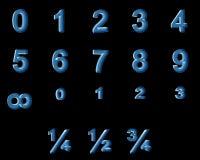 Números de la radiografía Imagen de archivo