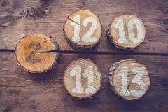 Números de la tabla Imagen de archivo libre de regalías